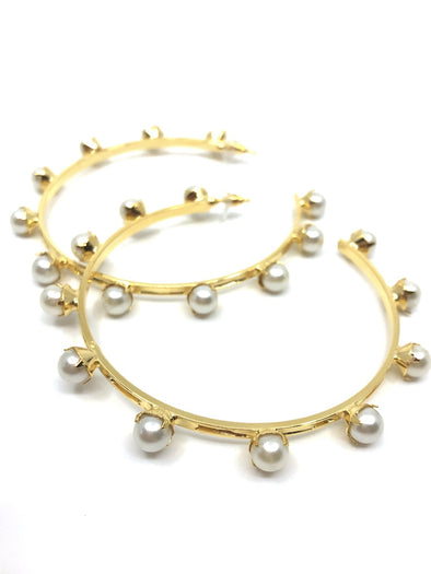 Pearly Xl Hoops