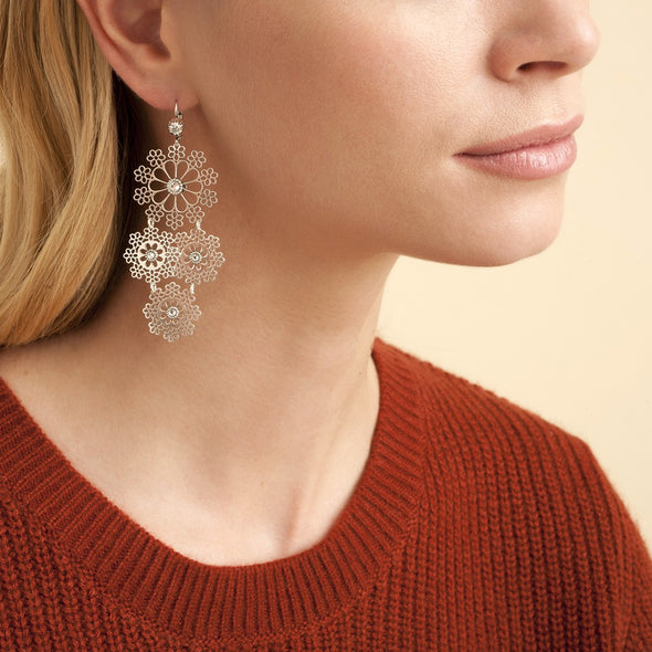 Neige Earrings Mini Silver