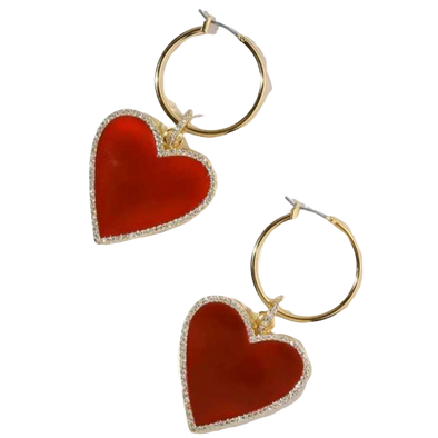 Blair Enamel Heart Earrings