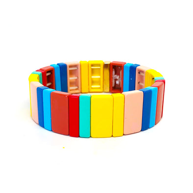 Jaipur Color Block Elastic Bracelet