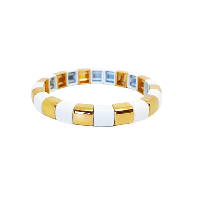 Moscow Rounded Color Block Stretch Bracelet