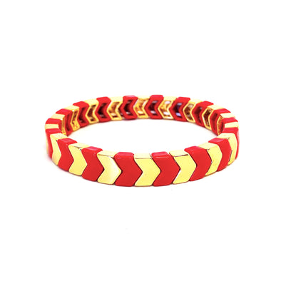 On The Go Arrow Elastic Bracelet Red/ Gold
