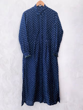 Load image into Gallery viewer, Blue Bandhani Cotton Silk Kurta with plain pants