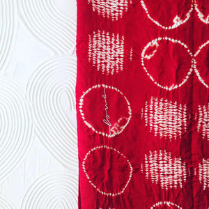 'Love' shibori and bandhani silk saree