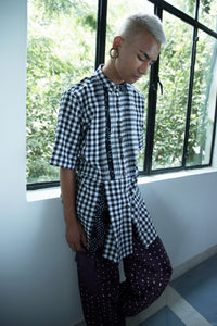 Checks Pleated Kurta