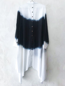 Black and White Bandhani Tunic