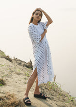 Load image into Gallery viewer, White Polka Dress