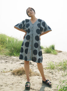 Green Dots Beach Dress