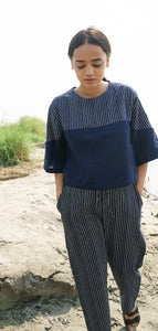 Blue Stripes Cotton Top