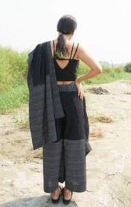 Black Drape Pants Saree