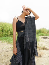 Load image into Gallery viewer, Black Drape Pants Saree