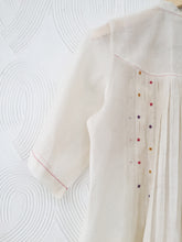 Load image into Gallery viewer, Handwoven Chanderi Pleated Kurta with Floral Hand Embroidery Set