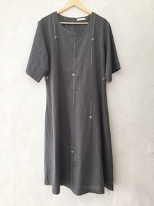 Grey Stripes Hand Embroidered Kurta
