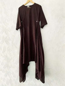 brown handkerchief Bandhani Kurta