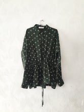 Green Bandhani drawstring top