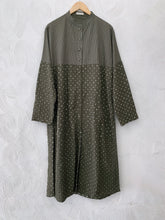 OLIVE BANDHANI LONG KURTA SET