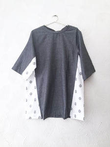 Grey and Jamdani Top
