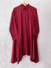 Load image into Gallery viewer, RED BANDHANI KURTA
