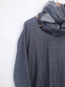 Charcoal Grey Drape Dress