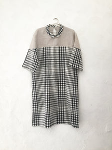 Checks and Linen Shirt Dress