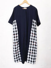Load image into Gallery viewer, Blue Cotton and Checks Dress