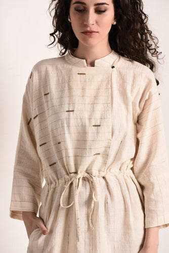 Handspun Khadi Angrakha Dress