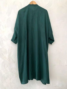 Bottle Green Hand-done Shibori Pleated Tunic
