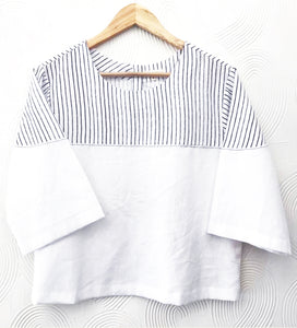 White Stripes Cotton Top