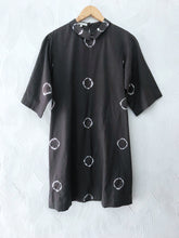 Load image into Gallery viewer, Olive Shibori Rings Shift Dress