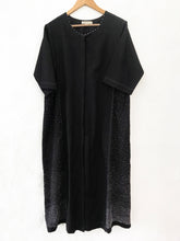 Load image into Gallery viewer, Black side panel embroidered dress