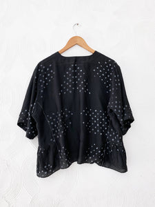 Black Abstract Bandhani Top