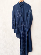 Load image into Gallery viewer, Blue Hand-done Bandhani Dori Dress