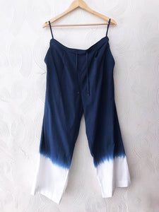 Cotton Blue Dip-Dye Pants
