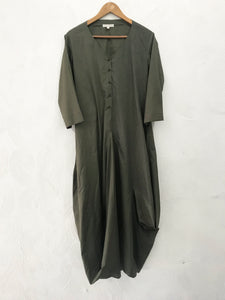 Green Drape Dress