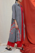 Load image into Gallery viewer, Grey Shibori Dress
