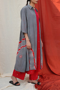 Grey Shibori Dress