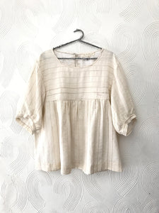 Handspun and handwoven cotton Top