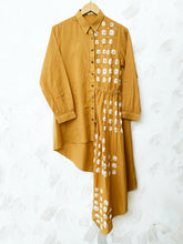 Load image into Gallery viewer, Mustard Hand-done Bandhani Dori Dress