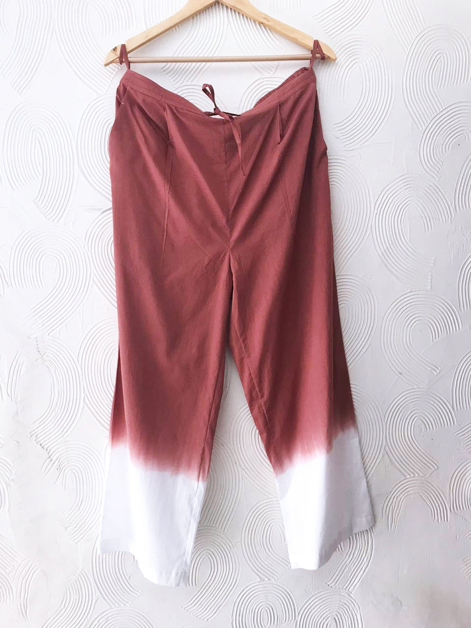 Peach Blue Dip-Dye Pants