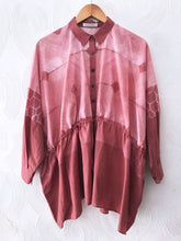 Load image into Gallery viewer, Peach Shibori Drawstring Top