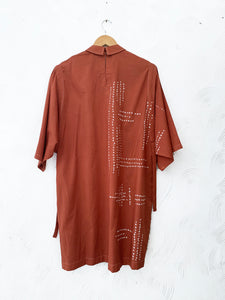 Rust bandhani dress