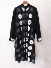 Load image into Gallery viewer, Black Broken Shibori Drawstring Tunic