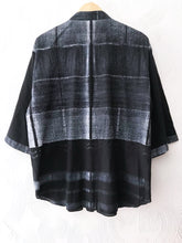 Load image into Gallery viewer, Black Shibori Drawstring Top