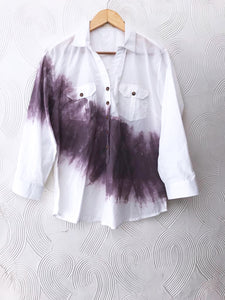 White Stroke Paint Shirt