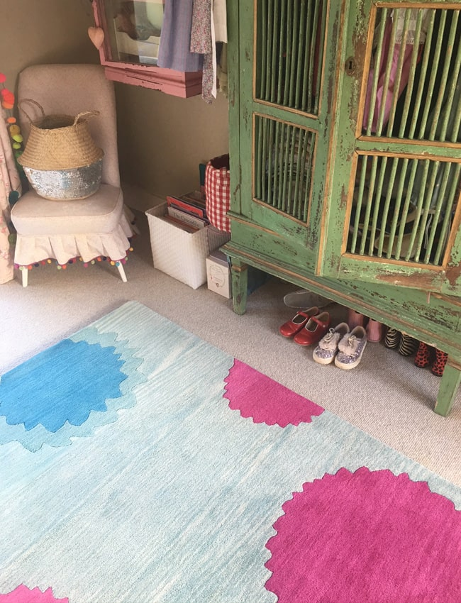 Bombay Sprout Aqua and Pink Dhurrie Rug