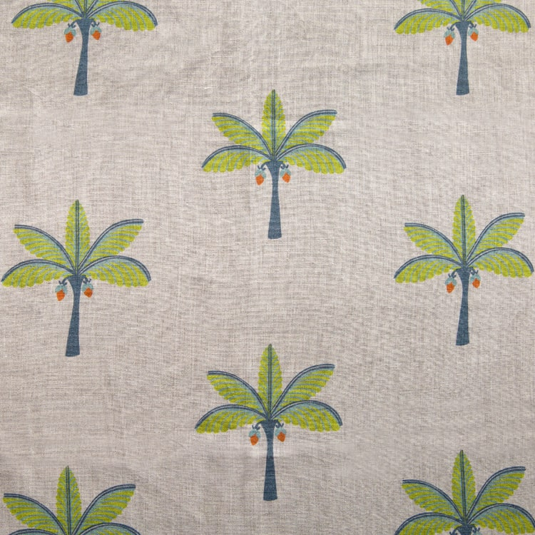Kerala Palm linen fabric by Bombay Sprout