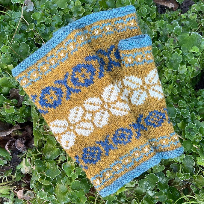 Dawn fingerless mitts kit
