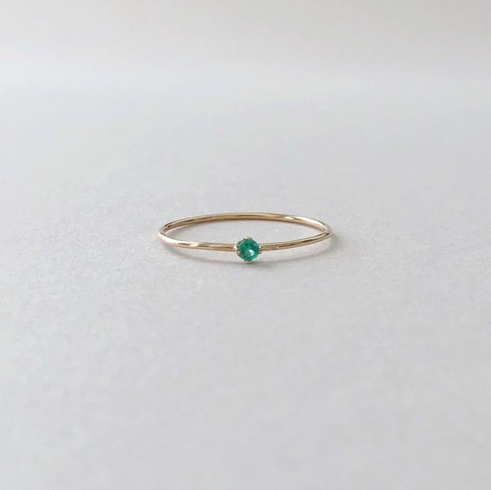 Tiny Emerald Ring