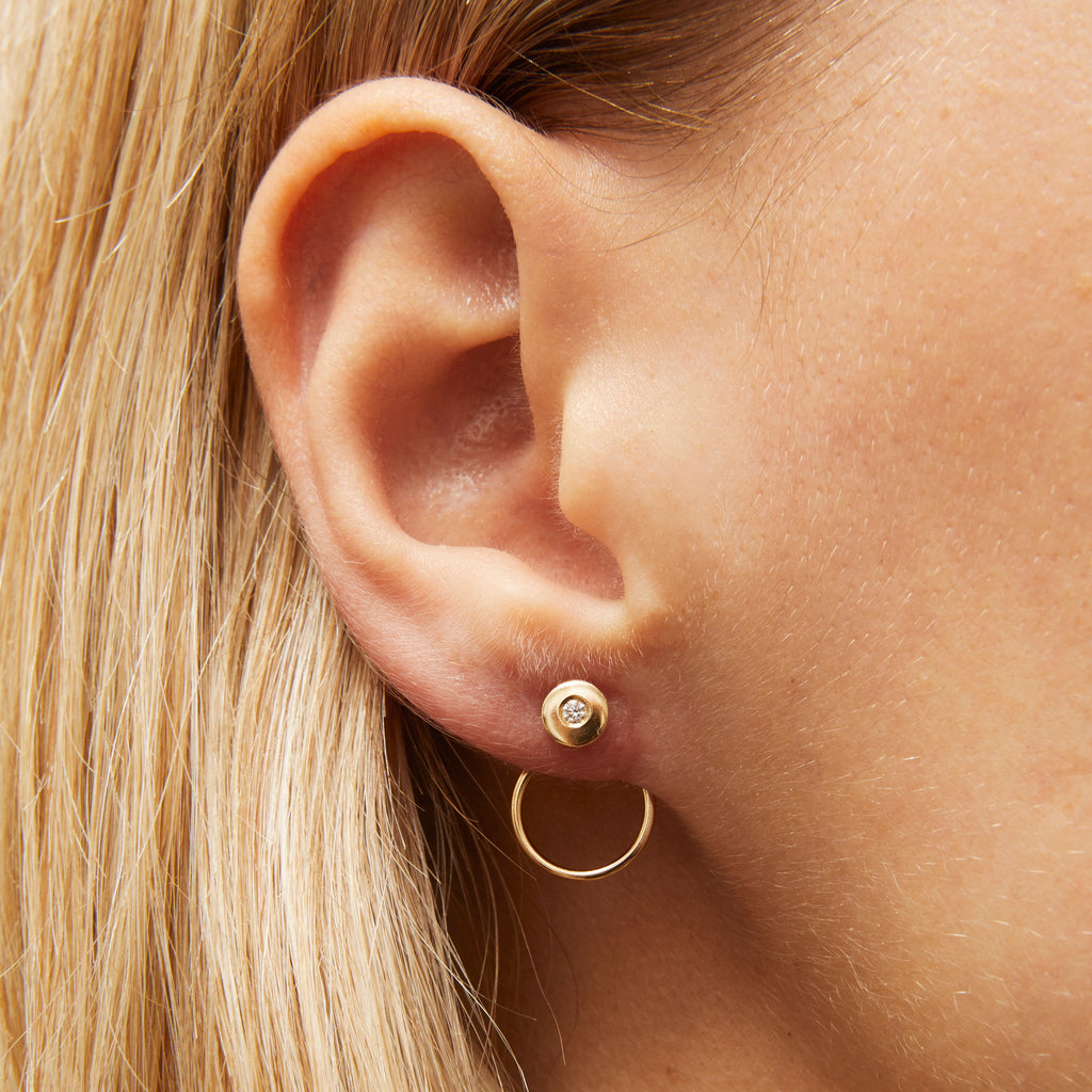 Disco Diamond Single Earring