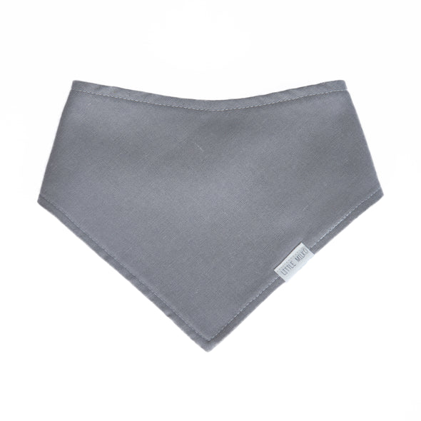 Light Grey Linen Dribble Bib